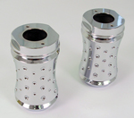 Chrome Billet Agostinni Fork Cover Fits FLH,FLHT,FLST Models