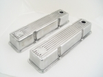Polished Short Aluminum Valve Cover Fits Small Block Chevy From 1958-1986